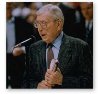 John Wooden - 10 Time NCAA Basketball Championship Head Coach at UCLA