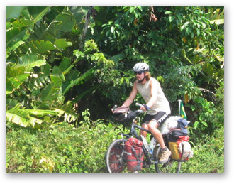 biking through the jungle