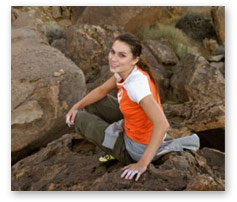 young woman rock climber
